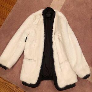 """NWT """"fur"""" coat"""